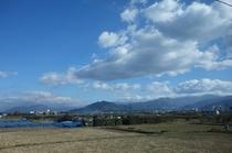 長野電鉄から湯田中へ(長野電鉄社内から撮影)