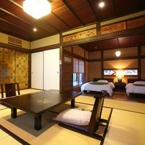 【客室】 貴賓室「草庵」は、明治時代に造られた旧細川藩の建物を移築し造りました