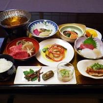 *【ご夕食一例】地場産の食材を使い、新鮮さにこだわったお料理