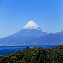 戸田港と富士山