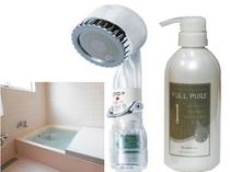 天然成分でサラサラの髪になるフルピュアシャンプーと、美肌・美髪に良い宝石シャワー