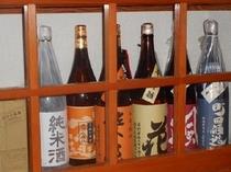 オーナー選りすぐり・味自慢の各種の地酒