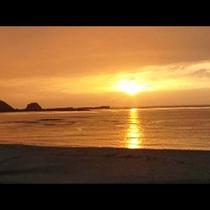 八丁浜小浜海岸 夕日
