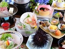 【夏のお料理一例】海の幸・山の幸