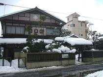 雪景色の前景