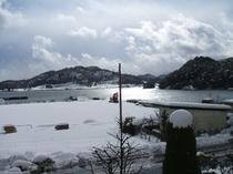 2階客室からの雪景色2