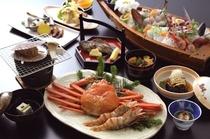 おまかせ海鮮会席料理(イメージ)+香住がに・地えび
