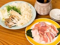 軍鶏鍋(別途料金)