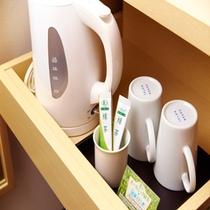 【全室設置】湯沸しポットとオーガニック緑茶