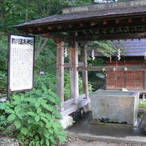 *「酢川温泉神社」は家内安全、縁結びの神様として祀られています。