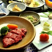 【お料理一例/夕食】山形県の食材を使った、手作り中心の素朴な郷土料理の数々。
