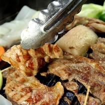 お料理一例/冬はジンギスカン鍋をご用意致します