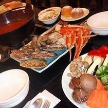 *【夕食例】地元の食材を中心に使った料理を、8品程度をご用意いたします。