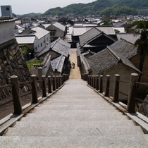 映画やテレビCMにたびたび登場する西方寺の階段