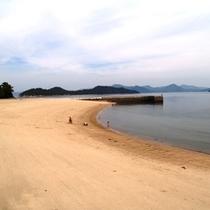 竹原市の的場海水浴場のビーチ