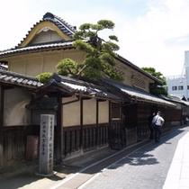 町並み保存地区の松阪家住宅