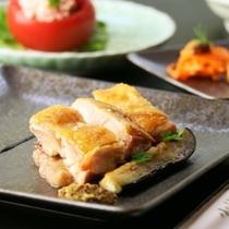 ライトコース_メイン_地鶏のローストくるみ味噌と共に_