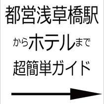 都営浅草橋駅からの簡単ガイド