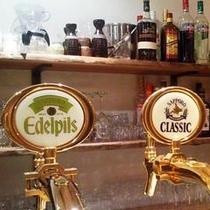 サッポロ生ビール2種。クラシックとエーデルピルス