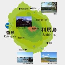 利尻島マップ