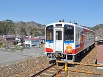 【普代駅】リアス海岸を走る三陸鉄道。