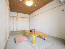 【和洋室】和室部分です。のんびり足を伸ばしてお寛ぎいただけます。