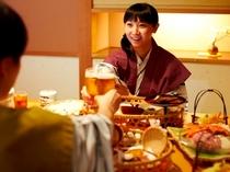 個室食事処(食事画像)