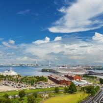 ■景色■爽やかな海風を。街と海が融合した横浜ならではの雰囲気を。