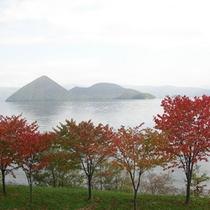 秋の洞爺湖