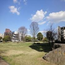 白川公園(丸小ホテルを囲む風景)