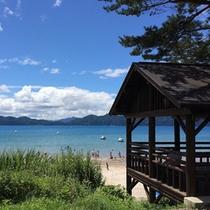 *【田沢湖】まるで南国の海のような瑠璃色の田沢湖。