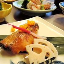 【夕食一例】ぶりのマヨネーズ焼き