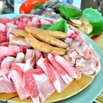 【バーベキューガーデン】お肉や魚介類、野菜ををご用意致します