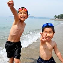 【海水浴】広大な敷地内にあるビーチで夏を満喫