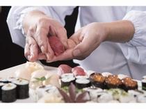 【宴会料理例】お寿司の実演