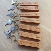 お部屋の鍵 伊豆の大島桜で作ったキーホルダー
