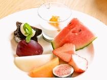 ある日の朝食より「旬のフルーツ」