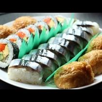 秋刀魚押寿司会席一例1