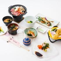 【夕食一例】定食 1,080円(込)要事前予約