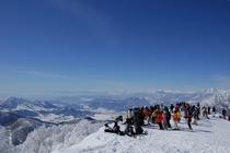 野沢温泉スキー場からの眺望