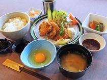 【お食事処・喫茶「龍頭の里」】レストランメニュー一例 ー猪かつ膳ー