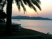 カリヨンハウスからの夕陽