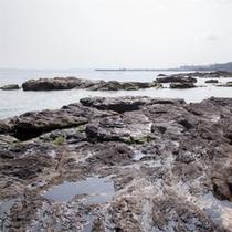 徒歩2分の海岸風景