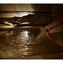 【大浴場】檜の香るおひとり様用檜風呂
