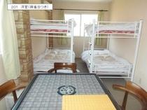 201 洋室C(2~4人)2段ベッド