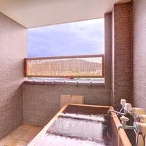 *特別室「愛ちゃん」/お部屋の温泉ももちろん高瀬温泉は100%源泉かけ流し温泉です。