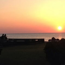 夕陽と恋人