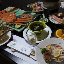 蟹フルコース 蟹しゃぶ、蟹釜飯
