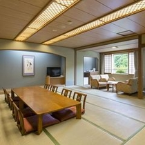 【和室/21~25畳】8名様までご滞在頂ける大部屋。グループ旅行におすすめです。