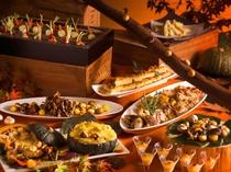 【ブッフェ・秋】9~11月は秋色のメニューがブッフェ会場を彩ります。